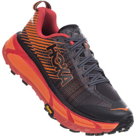 Hoka One One EVO Mafate 2 Running Shoes Herre Black/Poppy Red